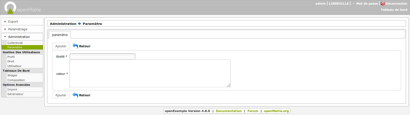 Publication de la version 'Framework openMairie 4.8.0'