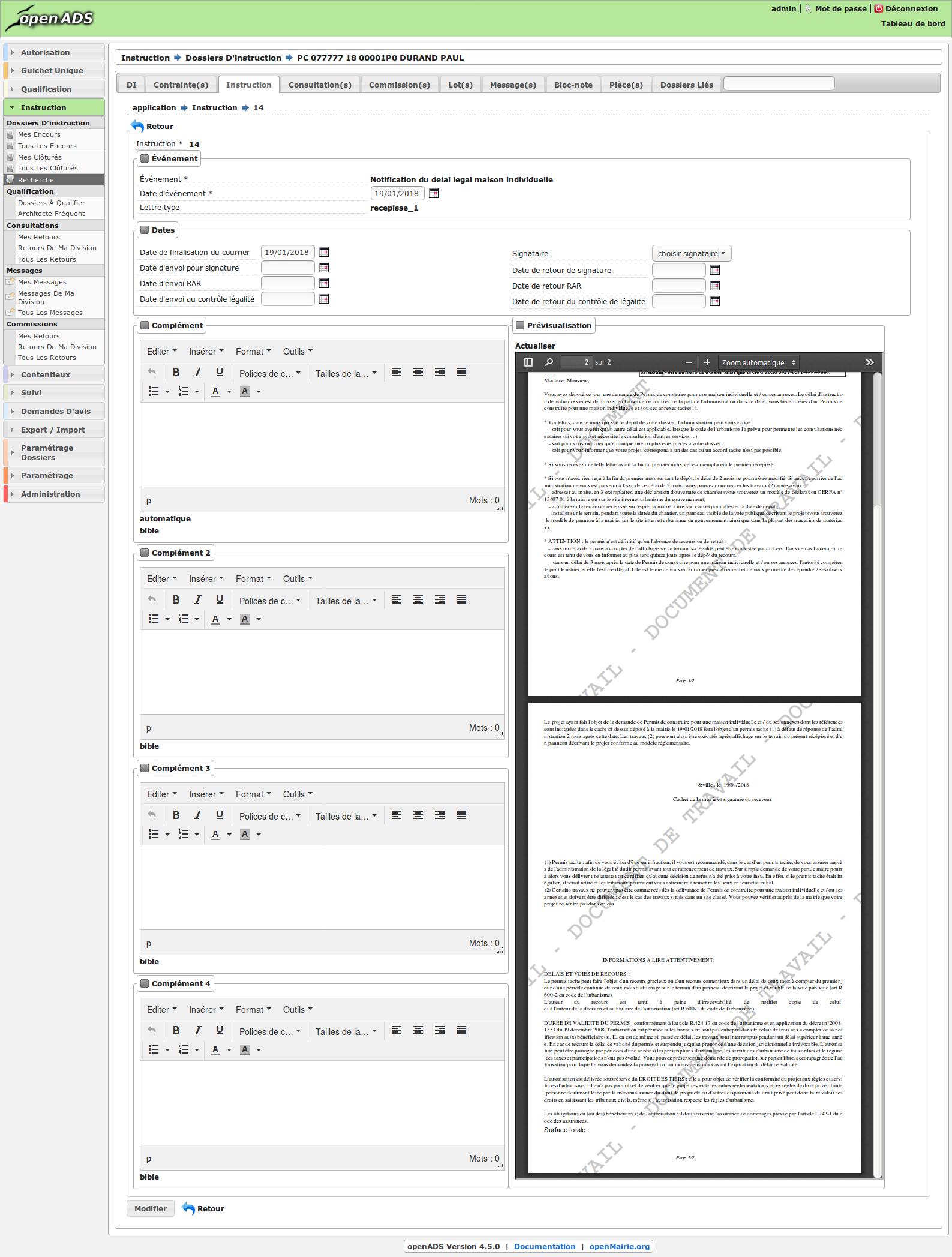 Publication de la version openADS 4.5.0