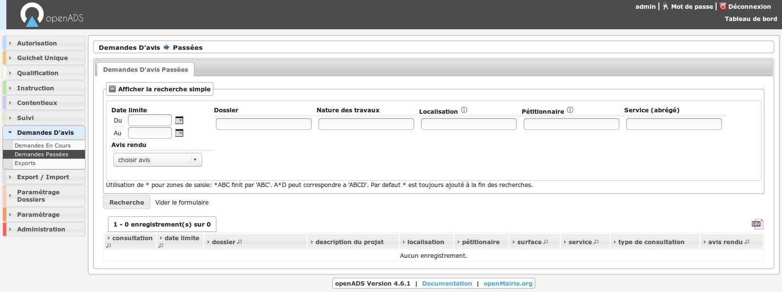 Publication de la version openADS 4.6.0 & 4.6.1